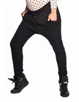 cb60fca97101 Moderné tehotenské teplákové nohavice so zníženým sedom