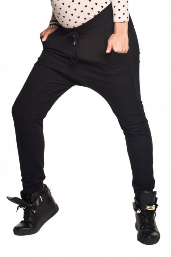 b128a161f8b2 Moderné tehotenské teplákové nohavice so zníženým sedom