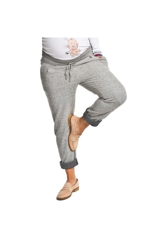 2c8f92235a83 Teplákové nohavice v striekanej sivej farbe Veľkosť S Farba sivá